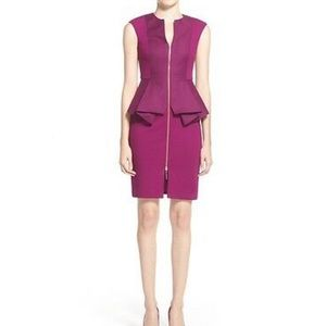 Ted Baker Jamthun Peplum Dress (purple)